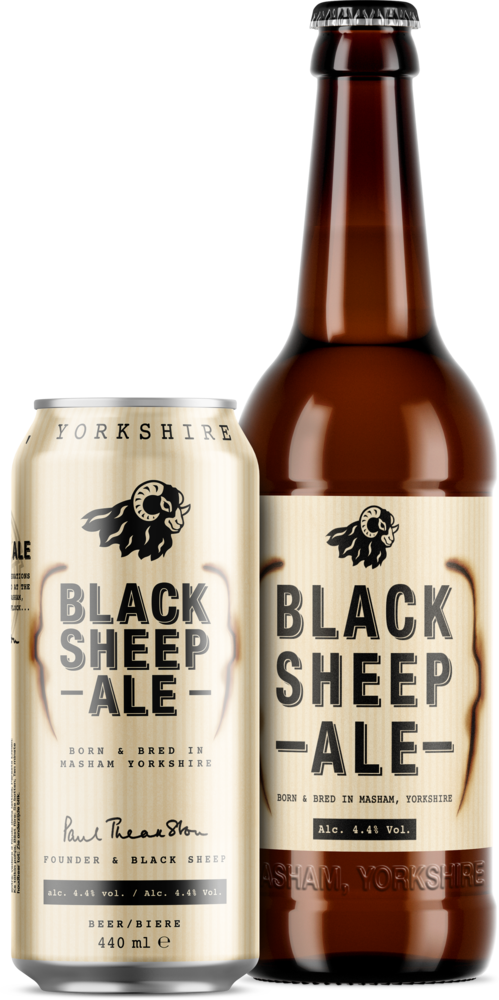 Black Sheep Ale Bottle & Can