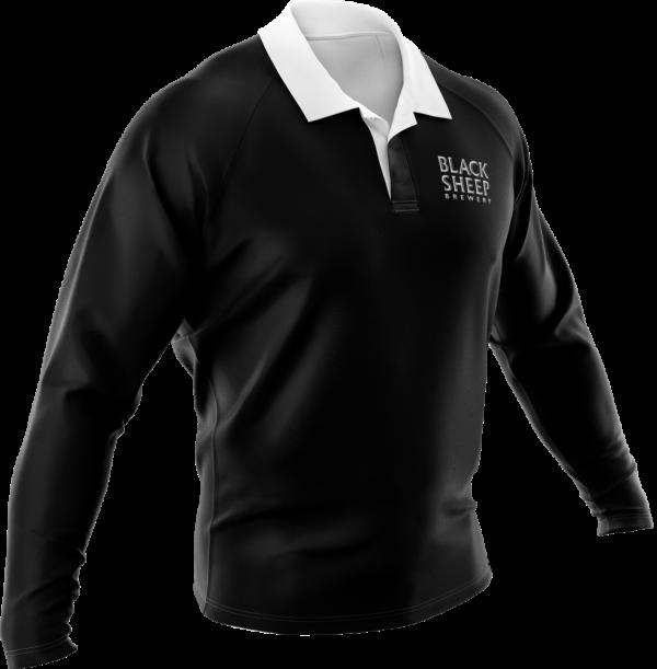 Black Sheep-Rugby-Shirt-Black