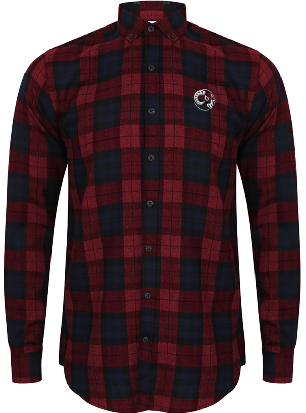 Brushed Check Casual Shirt - Red