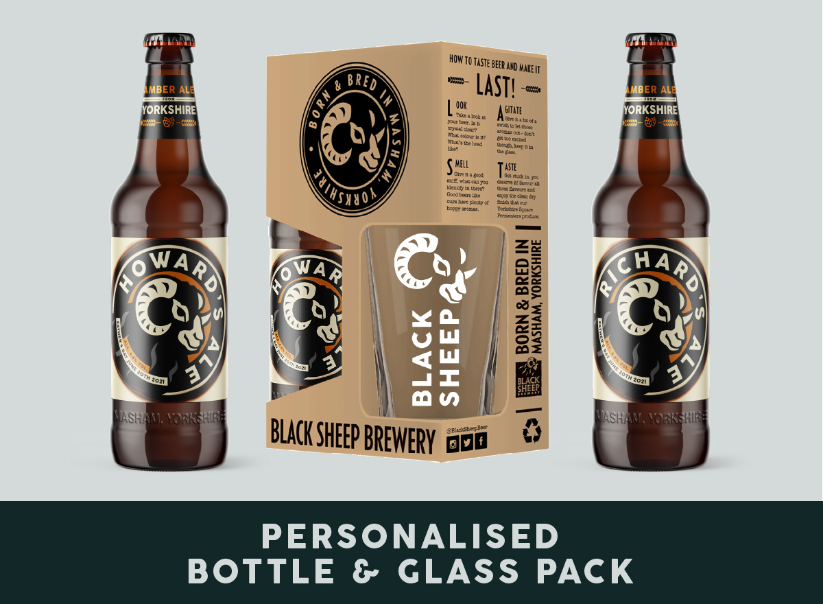Personalised Bottle & Glass Pack